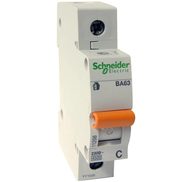 11205 Автомат. выкл. 1р ВА63 С 25 А 4,5 кА Schneider-Electric